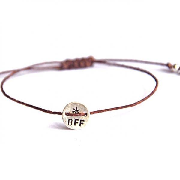Best Friends Forever hand stamped bracelet