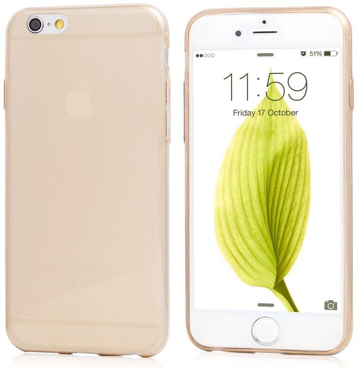 Promoție de final de 2015: husă de silicon Vetter Ecoline Soft Touch Ultraslim aurie semitransparentă pentru Apple iPhone 6/6S la doar 29 lei!