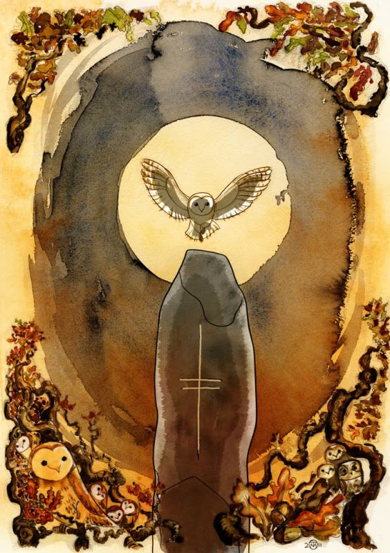 Here is another beautiful Tomm Moore artwork that I found online. It is of a barn owl.