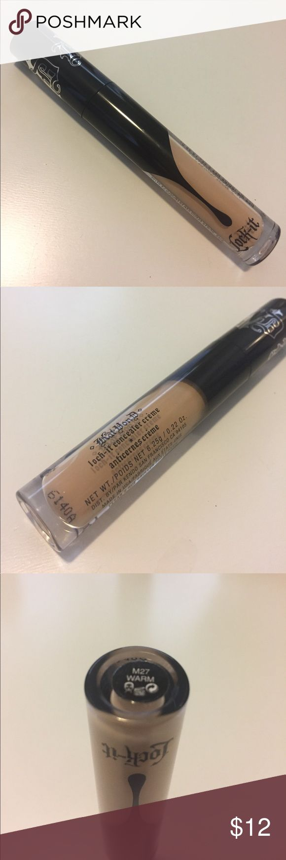 Kat Von D Lock it Concealer Creme- Warm New and unused. Shade is M27 Warm. Bundle for discount. ALWAYS AUTHENTIC. Prices are firm unless lowered by me. I do offer a bundle discount. NO TRADES. Kat Von D Makeup Concealer