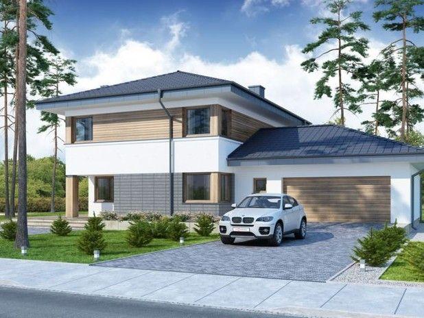 #Projekt TPA-136 to przestrzenny, piętrowy dom przeznaczony dla 4-5 osobowej rodziny. Funkcjonalny układ wnętrza. Zobacz rzuty projektu!