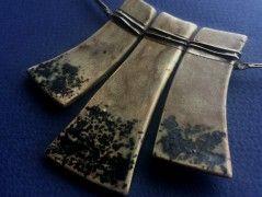 Náhrdelník keramika a cín 3v1