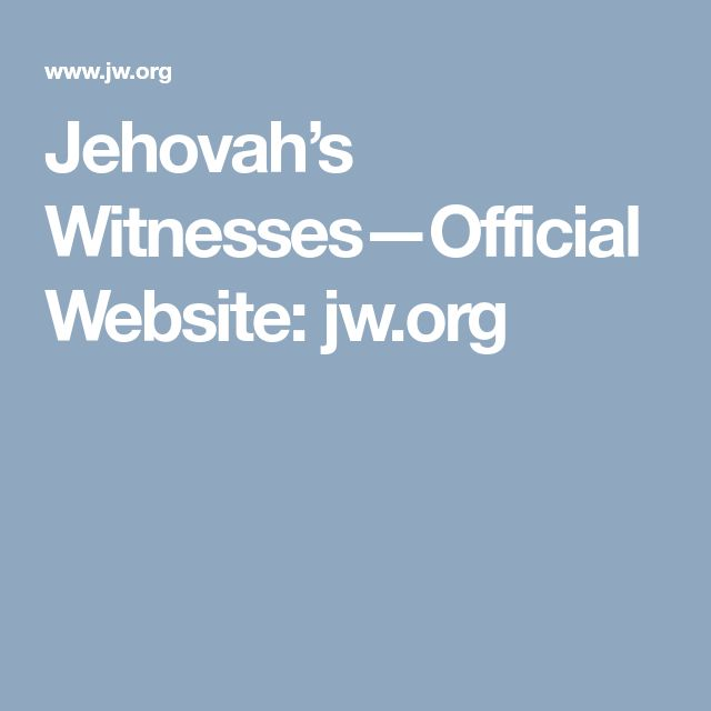 Jehovah's Witnesses—Official Website: jw.org