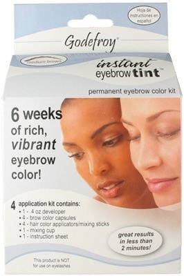 Godefroy Instant Eyebrow Tint Permanent Eyebrow Color Kit Eyebrow Makeup! I LOVE THIS...