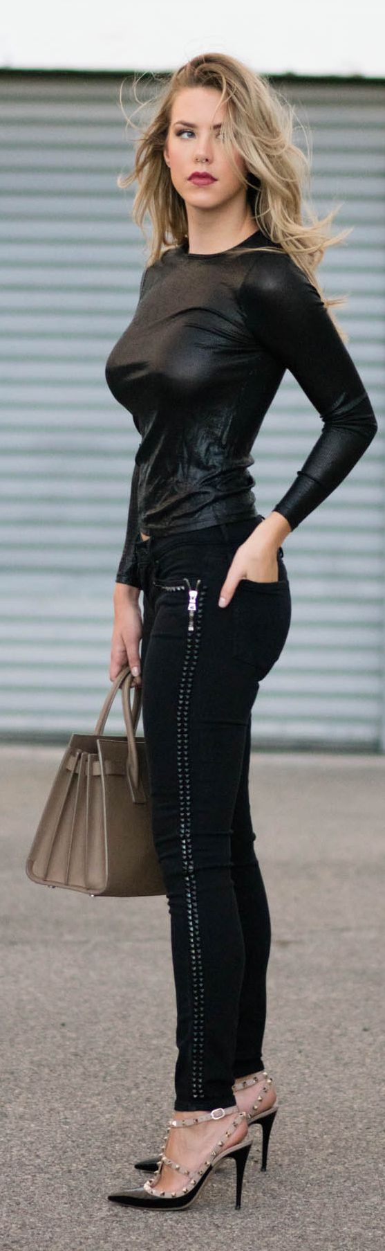 Studs On Black Fall Inspo by Kier Couture