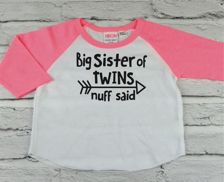 Big Sister of Twins, Baby Announcement, Toddler Clothes, Baseball, Raglan, Big Sister, Family shirts, Sister of Twins, Twins, Family Photo by Little17Shop on Etsy https://www.etsy.com/listing/463449547/big-sister-of-twins-baby-announcement