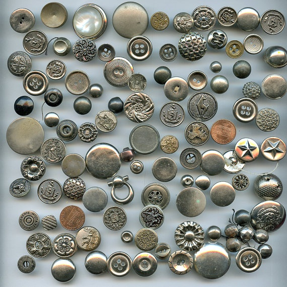 Vintage Silver Buttons 38