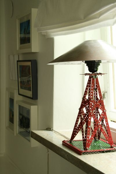 Meccano lamp by Chez Larsson