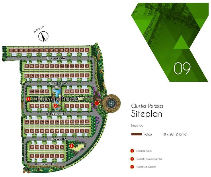 Site Plan Cluster Persea