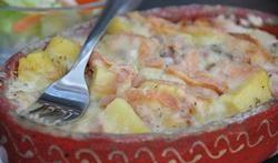 Le gratin de pommes de terre au munster.