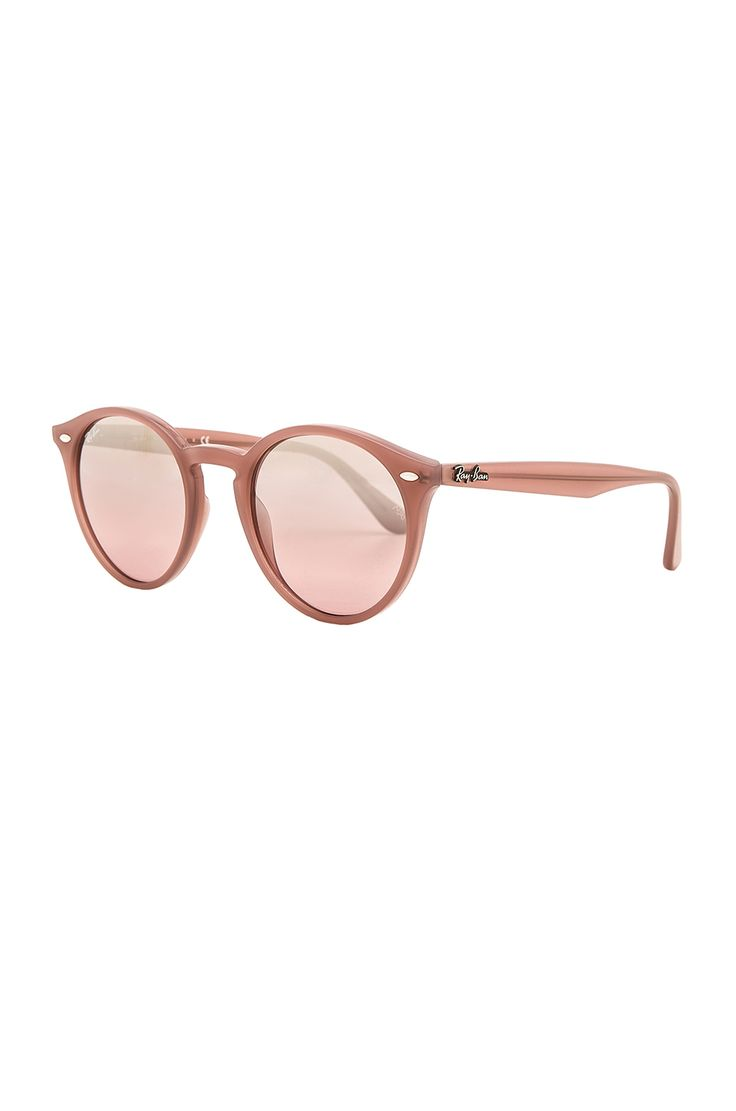 Ray-Ban Round Classic in Opal Antique Pink & Pink Mirror Silver Gradient | REVOLVE