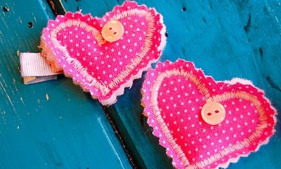 cute heart hair clips