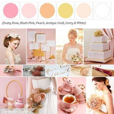 The Perfect Palette: {Just Peachy} A Palette of Peach, Ivory, White & Black