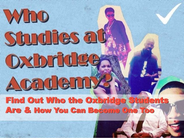 Who Studies at Oxbridge Academy? by Oxbridge Academy via slideshare