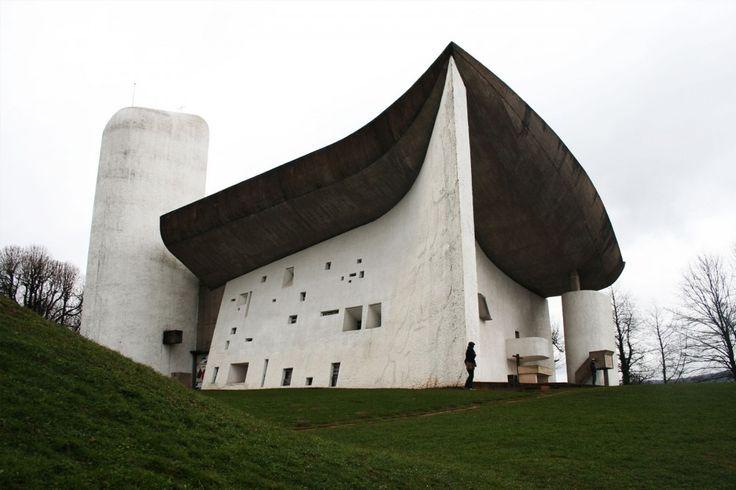 Notre Dame  -Location:Ronchamp, France - Architect: Le Corbusierl - Built:1953 : 1955