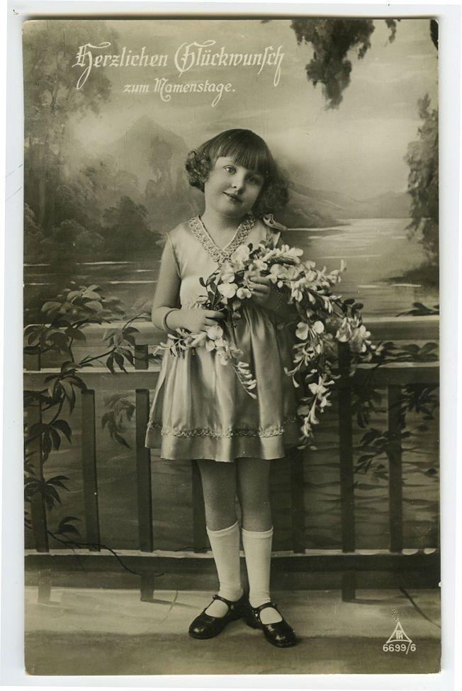 1920s милые дети ребенок дорогая немецкая девушка мода фото открытка | eBay