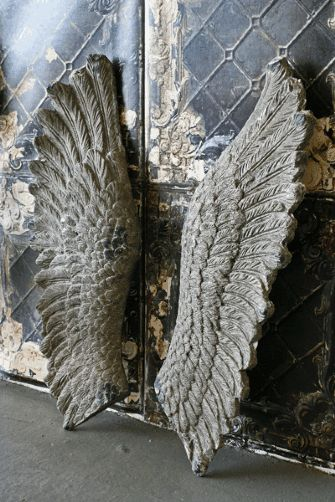 {Rocket St. George} Giant Concrete Angel Wings ~ God knows where I'd put these, but love them anyway...