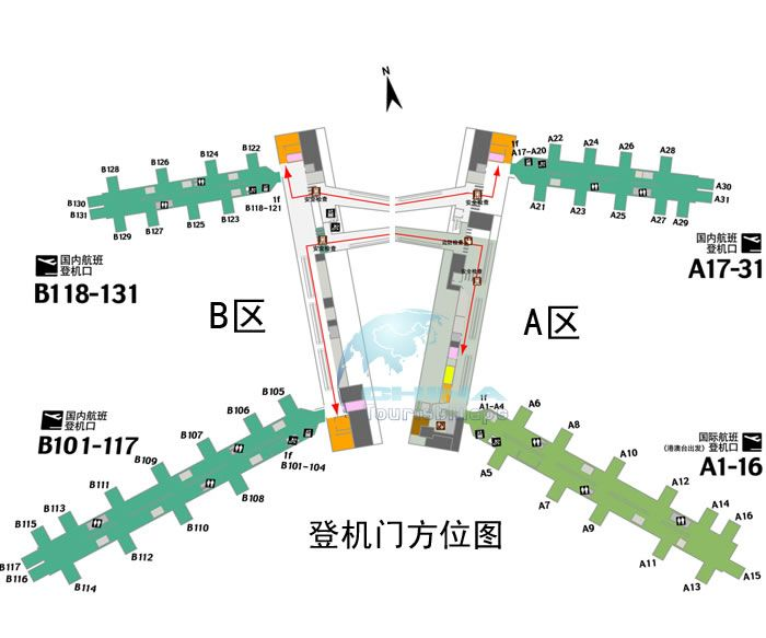 Guangzhou Airport Layout Map