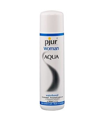 Woman Aqua 100 ml - Pjur. Pjur Woman Aqua is a specially developed water-based lubricant for woman who require that little extra moisture in the intimate area or skin. R235.00