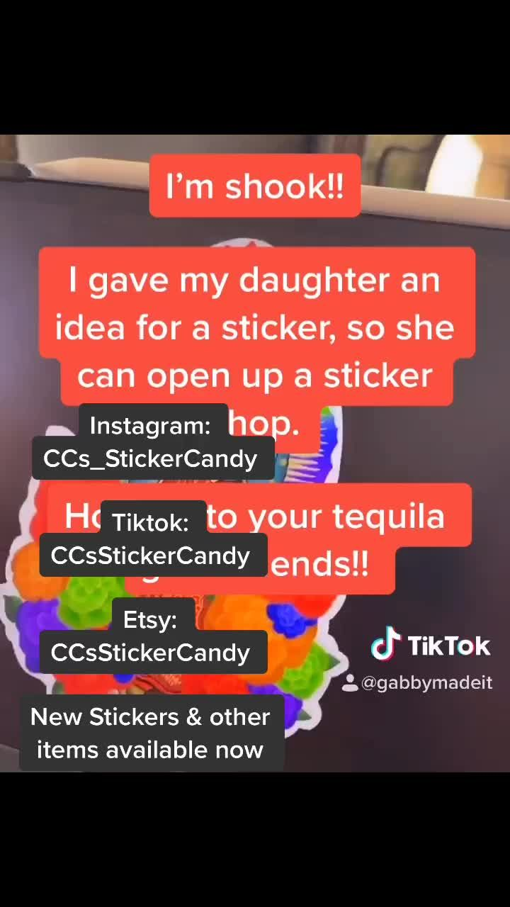 Pin By Ccsstickercandy On Waterproof Stickers The Best Gift New Sticker You And Tequila Waterproof Stickers