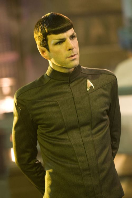 Spock (Zachary Quinto) from Star Trek. I feel so nerdy for finding him attractive. Lol