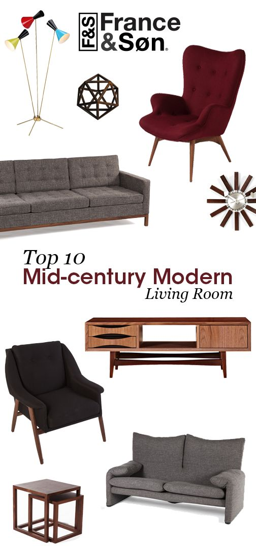 Mid-Century Modern Living Room: France and Son's carefully curated collection of Mid-Century Modern living room furniture and lighting is full of unique and eclectic finds that any mid-century lover will be enthralled to discover.