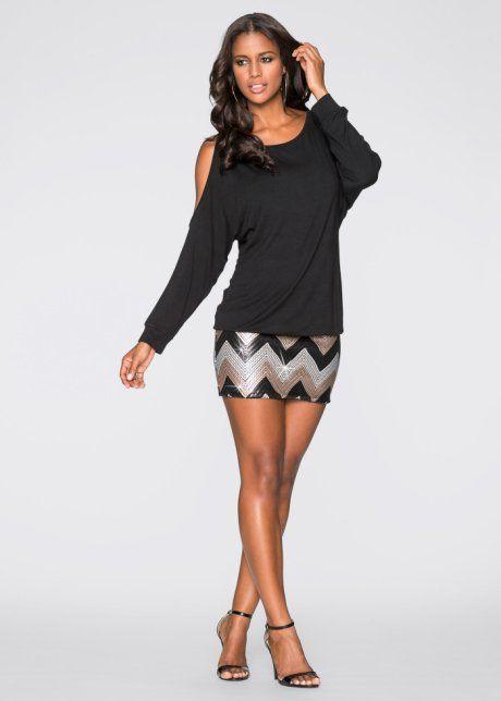Kleid mit Pailletten, BODYFLIRT boutique, schwarz