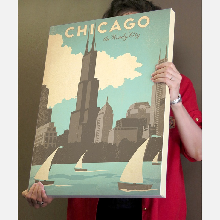 Love this canvas print of my favorite city. #Chicago