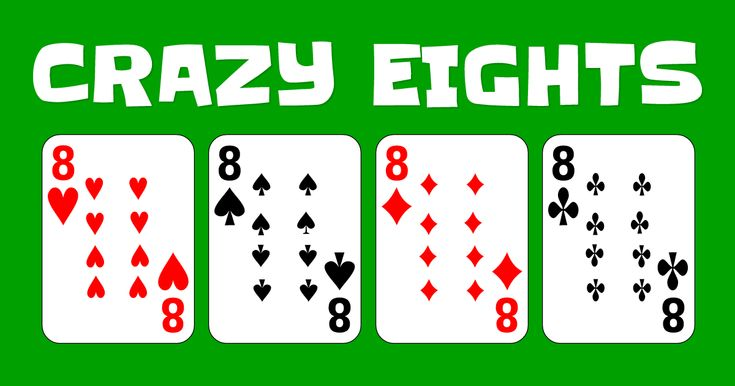 Play the classic card game Crazy Eights online for free.