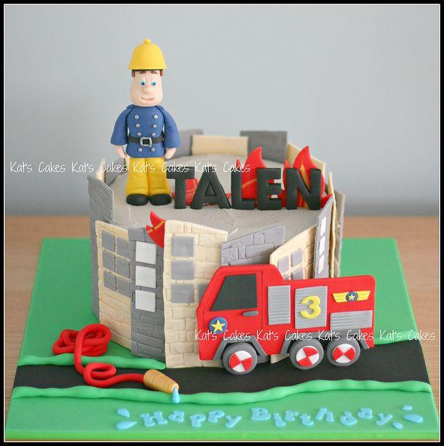 Fireman Sam Cake by Kat's Cakes