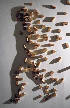 #arte Conceptual. obra de  Kumi Yamashita.He elegido esta obra porque el artista desarrolla una idea con el objetivo de estimular la imaginación del observador.