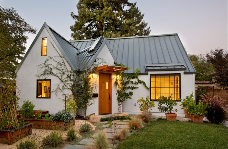 Metal Seam Roof On A Small House Remodel Pinterest