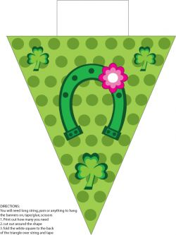 Banner 3 St. Patricks Day printable Party Decorations