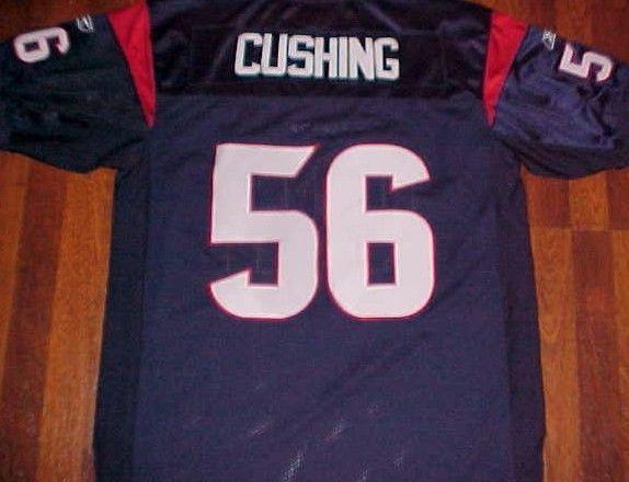 Brian Cushing 56 Houston Texans NFL AFC South Reebok Blue Red Football Jersey 50 #Reebok #HoustonTexans