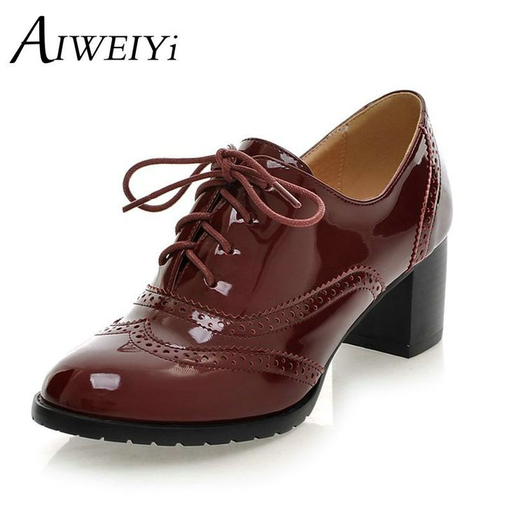 Lace up Platform Pumps Shoes Oxfords Shoes Women Spring Fall Women Pumps Shoes Soft PU Leather Women High Heels Casual Shoes  - #Shoes  #Fashion #Style #Highheels #Heels #Booth