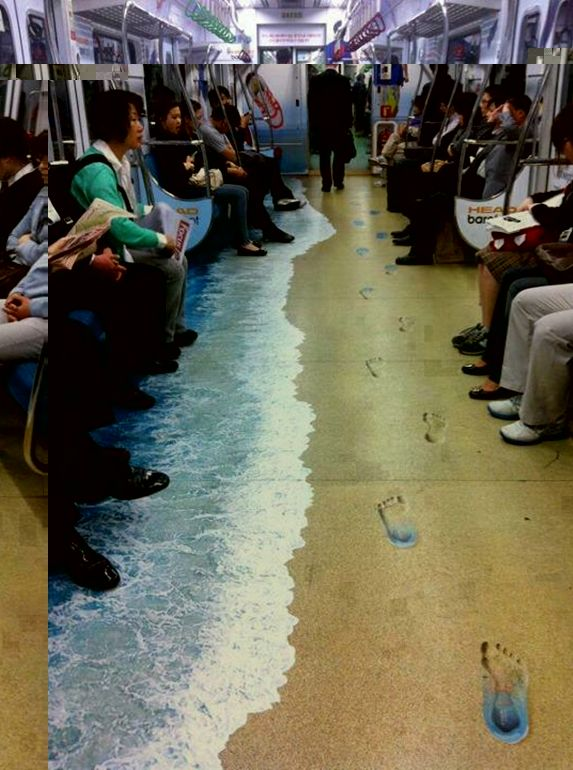 Japanese Subway floor - so cool!