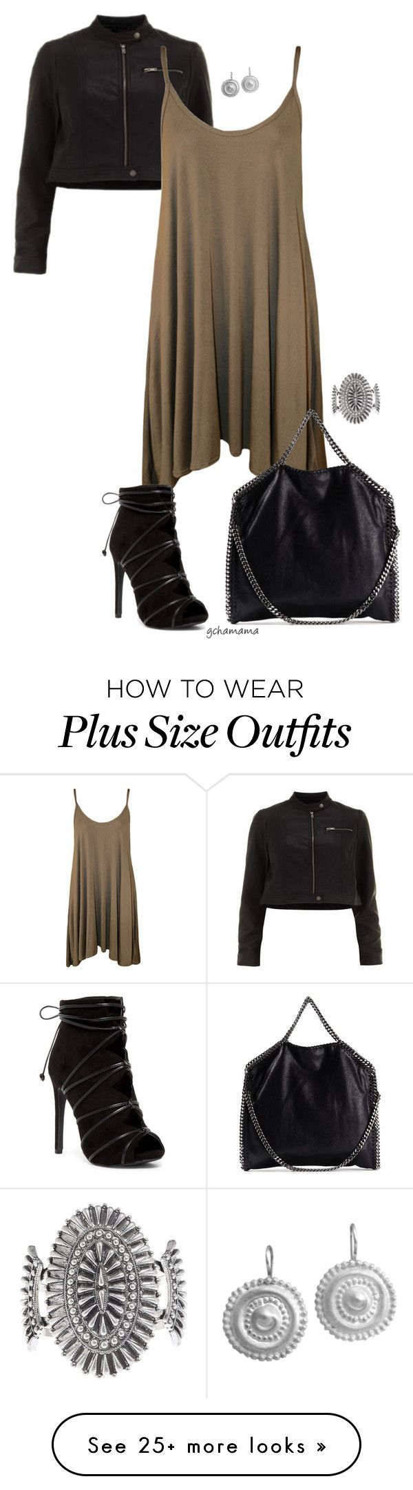 """On the off chance- plus size"" by gchamama on Polyvore featuring WearAll, STELLA McCARTNEY, Lucky Brand and Chen Fuchs Jewelry"