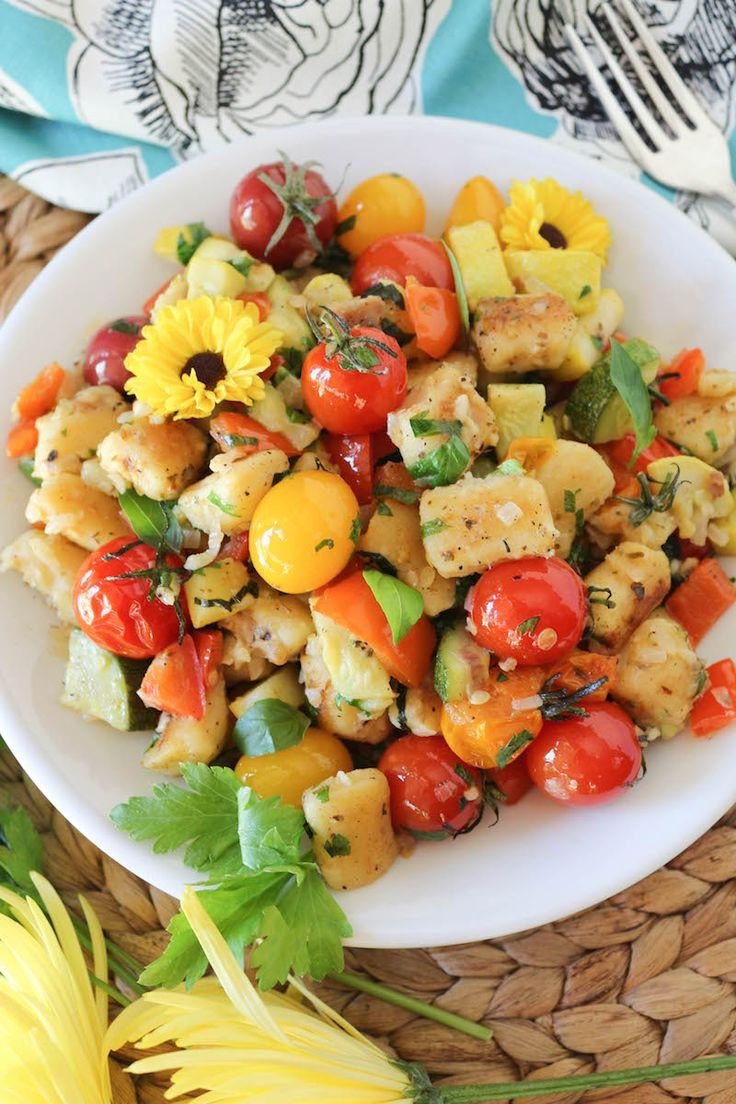 Gnocchi With Summer Vegetables Recipe — Dishmaps
