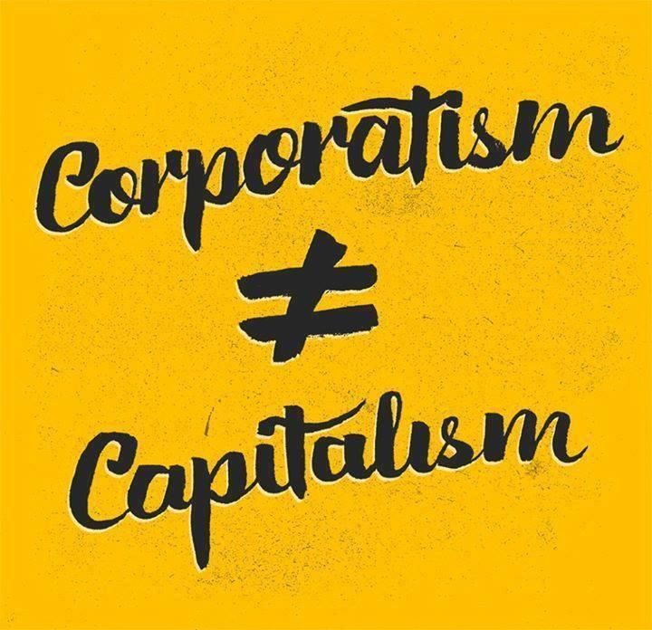 Corporatisim is NOT Capitalism!   Fight Back, Join Us @ http://iamtheteaparty.net #tcot #teaparty