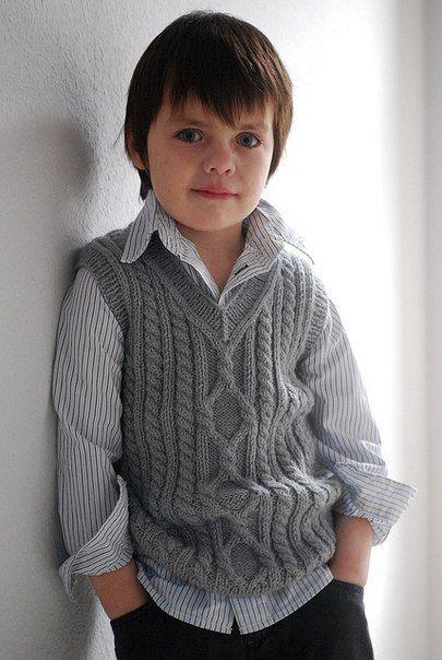 Delicadezas en crochet Gabriela: Chaleco de varón en dos agujas