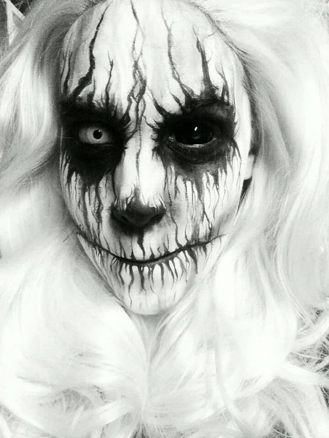 Creepy white fx makeup