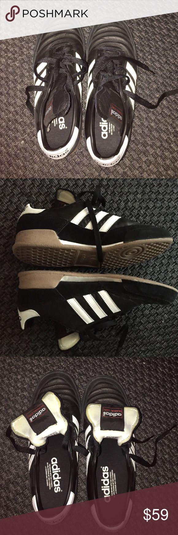 Adidas Mundial 8.5 women 7 men worn less than 5x Adidas Mundial Goal size 8.5 women 7 men Adidas Shoes Athletic Shoes