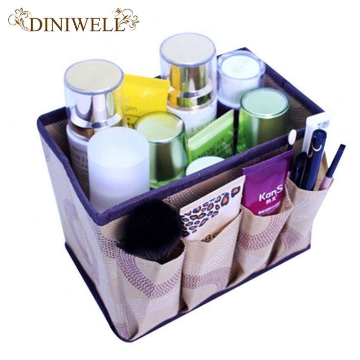 Kapasitas besar Lipat Multifungsi Make Up Kosmetik Kotak Penyimpanan Container Bag Dresser Desktop Kosmetik Makeup Organizer