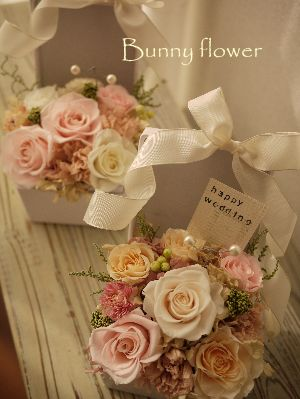 プリザーブドフラワ-リングピローpreseeved flower ★ http://item.rakuten.co.jp/bunny-flower