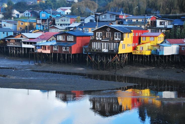 Chiloe, Chile! Love little coastal villages!