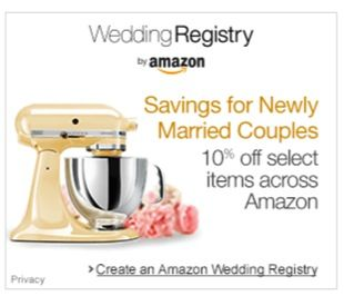 Amazon Wedding Registry + 10% off deal! - don't forget to add Amazon to your Bridal Registry List! #weddings #registries #thefrugalgirls