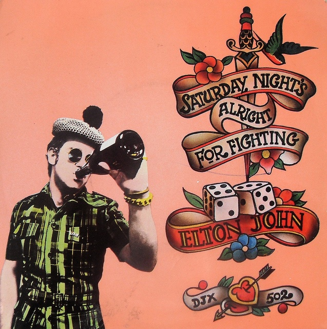 This art work is what made me want a tattoo when I was a teenager. Elton John - Saturday Night's Alright For Fighting