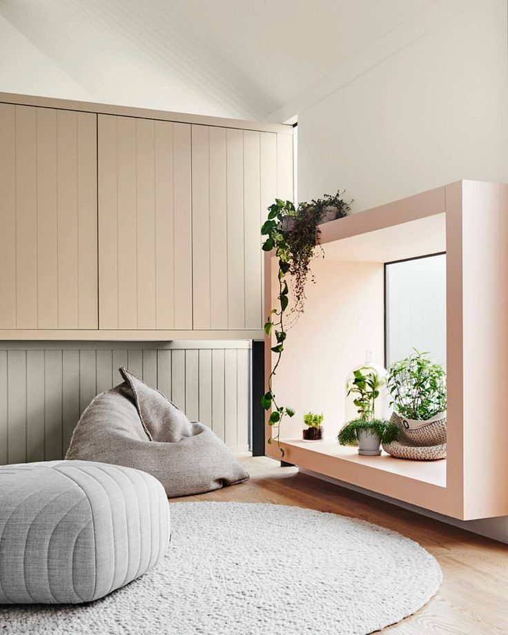"""Dulux Australia on Instagram: """"SENTIENCE is a tactile remedy, bringing together a palette of soulful colour to draw you in to a textured world. Dulux Colours Pinkham, Land Light, Pupu Springs, Beige Mystery Styled @breeleech and @heathernetteking Image by @lisacohenphoto #DuluxColourForecast #Dulux #ColourTrends"""""""