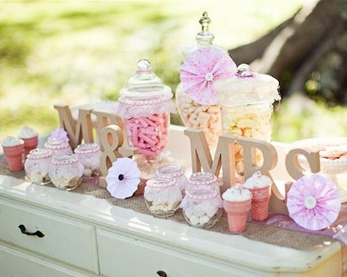 Loving Shabby Chic Right Now. The Perfect Look For A Wedding Dessert Buffet  Table.