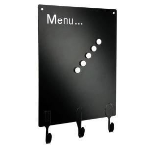 Cadre menu magnétique en métal noir DE125N - Une décoration sympa pour votre…